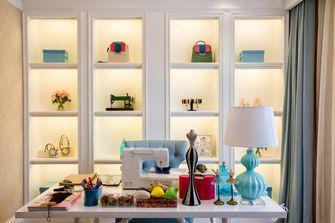 富裕型110平米三室一厅欧式风格书房图