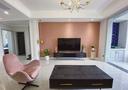 90平米三室两厅轻奢风格客厅图片