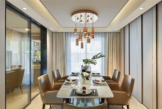富裕型130平米四室两厅北欧风格餐厅图