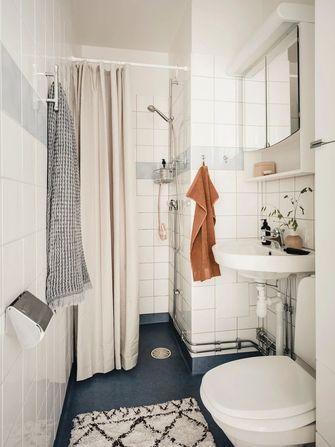 富裕型50平米一室一厅美式风格卫生间设计图