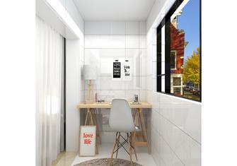 经济型80平米三室一厅北欧风格阳台图片