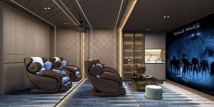 豪华型140平米轻奢风格影音室图