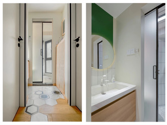 3-5万40平米小户型日式风格卫生间装修案例