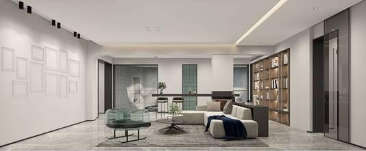 130平米三室两厅现代简约风格影音室装修效果图