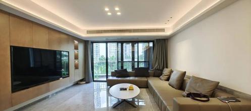 20万以上140平米四室一厅轻奢风格客厅设计图