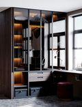 富裕型130平米三美式风格书房设计图