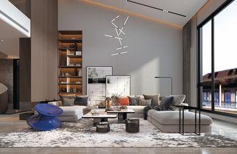 20万以上140平米复式现代简约风格阁楼装修效果图