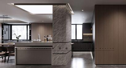 140平米三室两厅工业风风格餐厅图片大全