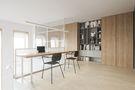 富裕型70平米一室两厅轻奢风格书房设计图