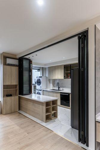 90平米一居室现代简约风格厨房设计图