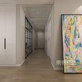 20万以上130平米四北欧风格走廊欣赏图