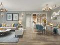 富裕型80平米三室一厅美式风格走廊图片大全
