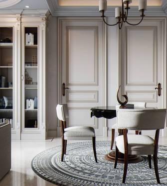 富裕型140平米复式美式风格餐厅设计图