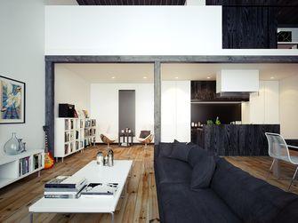 120平米三工业风风格客厅装修效果图