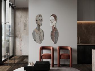 经济型80平米一室两厅现代简约风格客厅图片大全