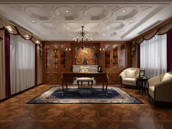 20万以上140平米别墅英伦风格书房图片