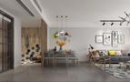 70平米现代简约风格客厅图片