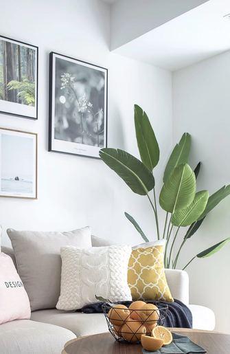富裕型100平米三室两厅北欧风格客厅装修图片大全