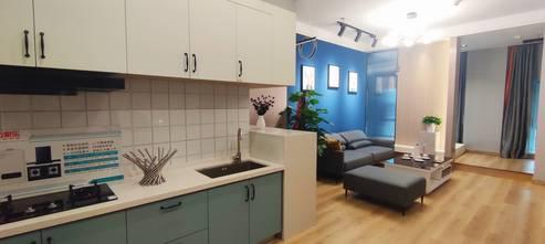 50平米一室一厅北欧风格厨房欣赏图