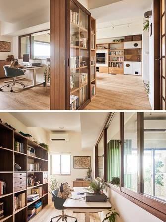 三室两厅日式风格书房设计图