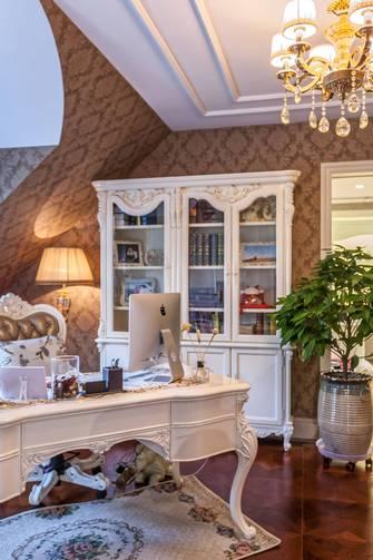 20万以上140平米别墅欧式风格书房欣赏图