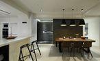 20万以上140平米三室一厅混搭风格餐厅图片