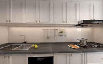 110平米三室两厅轻奢风格厨房图