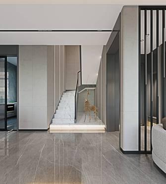 140平米三室两厅轻奢风格楼梯间图片大全