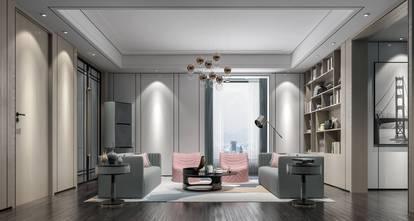 20万以上140平米复式现代简约风格书房图片大全