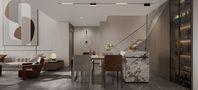 20万以上140平米复式现代简约风格餐厅装修效果图