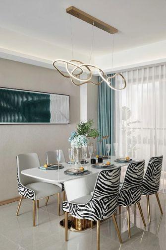 经济型120平米三室一厅现代简约风格餐厅装修效果图