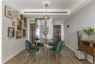 富裕型四室一厅北欧风格餐厅欣赏图