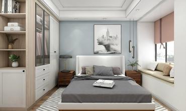 5-10万110平米三室两厅北欧风格卧室图