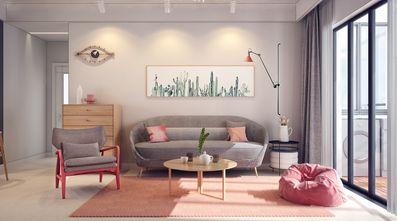 经济型120平米三室三厅混搭风格客厅装修案例