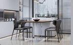 120平米三现代简约风格餐厅设计图