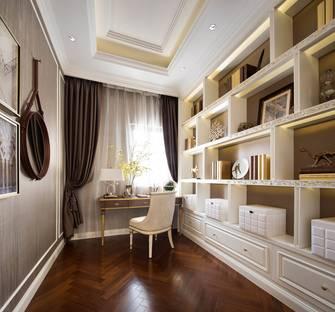 富裕型140平米四室两厅欧式风格书房装修图片大全