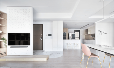 富裕型100平米三室三厅现代简约风格客厅装修案例