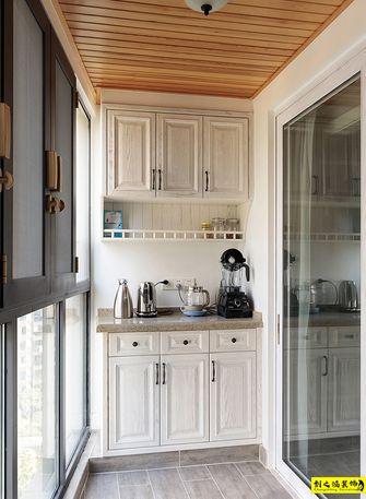 富裕型100平米三室两厅美式风格阳台欣赏图