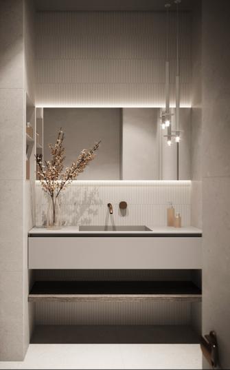 豪华型140平米三室一厅现代简约风格卫生间装修效果图