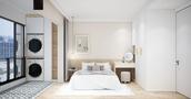 富裕型70平米三北欧风格卧室图