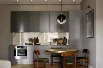 80平米三室两厅新古典风格厨房图片大全