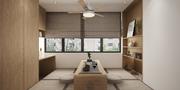 15-20万90平米三室三厅日式风格书房装修案例