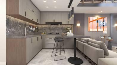 20万以上50平米一室一厅轻奢风格厨房图片