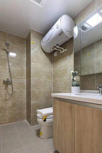 富裕型60平米一居室混搭风格卫生间图片