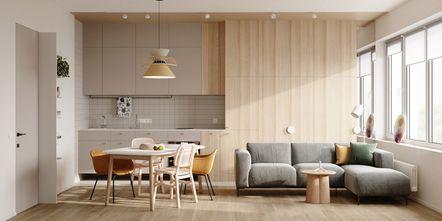 富裕型70平米现代简约风格客厅图片大全