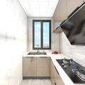 3万以下70平米三室一厅现代简约风格厨房欣赏图