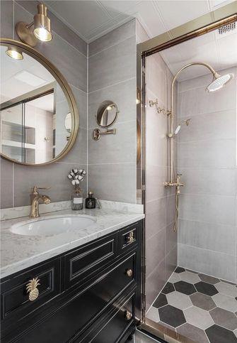 富裕型100平米三室两厅美式风格卫生间图片大全