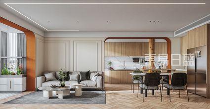 20万以上90平米三法式风格客厅装修效果图