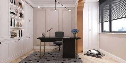 90平米三室一厅法式风格书房装修案例