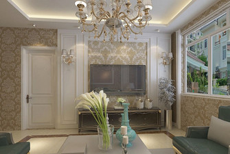 90平米三室两厅欧式风格客厅图片